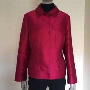 Escada magenta silk evening jacket DE 42 / US 12